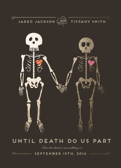 save the date cards - Until Death by Katie Zimpel