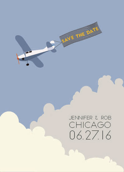 save the date cards - Flying High by Jale Design