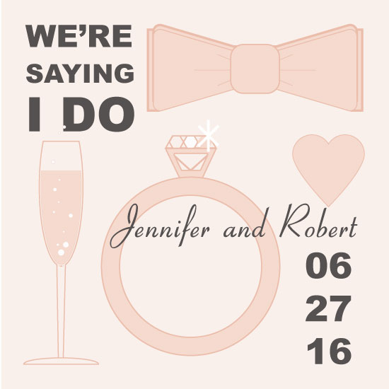 save the date cards - Toast by Jale Design