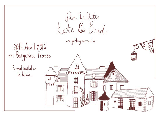 save the date cards - Chateau Love by Emily Atherton