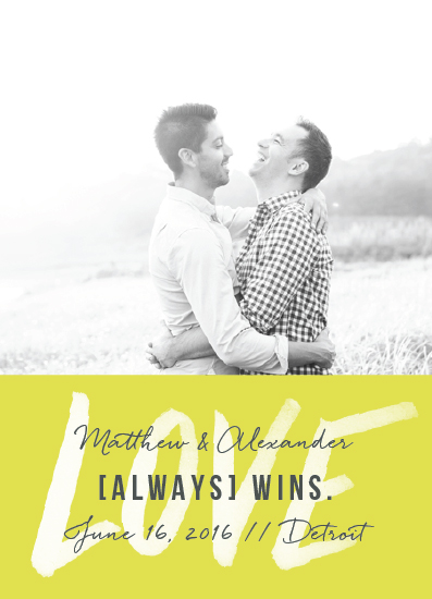 save the date cards - Love Always Wins by Snow and Ivy