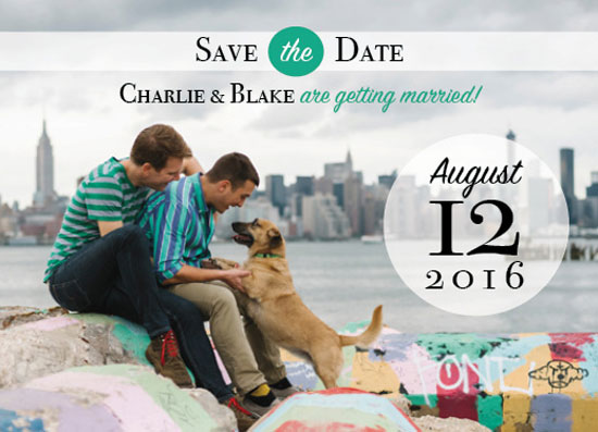 save the date cards - Men's Best Friend by Lauren Fortinberry