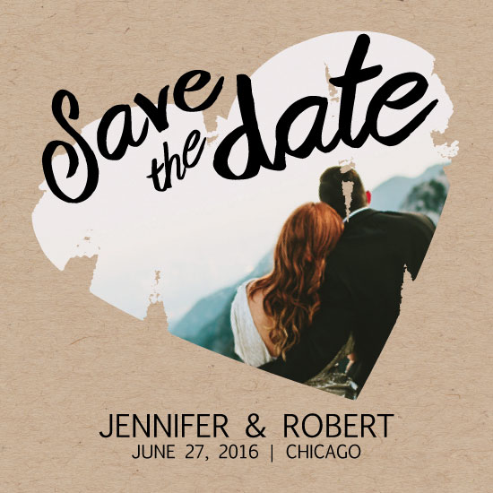 save the date cards - Heartbeat by Jale Design
