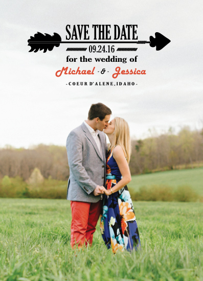 save the date cards - Simply Arrow by Ashlee Bordes