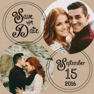 save the date cards - Love Letters by Jillian Bull
