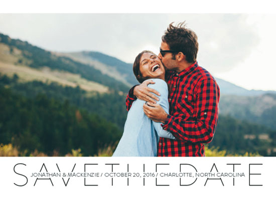save the date cards - Inline Modern by Megan Roth