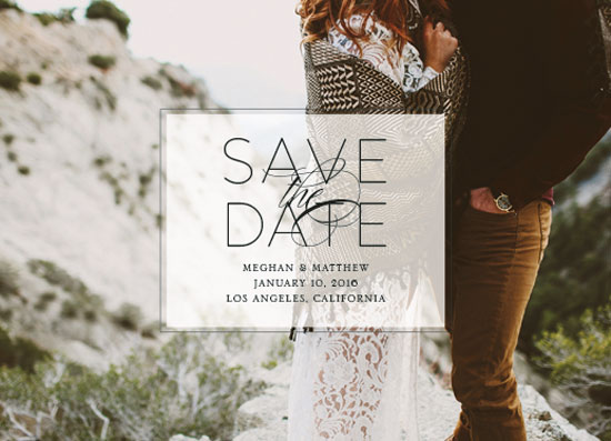save the date cards - Romantic Overlay by Megan Roth