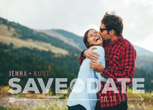 dotted save the date by Mandy Lindeke