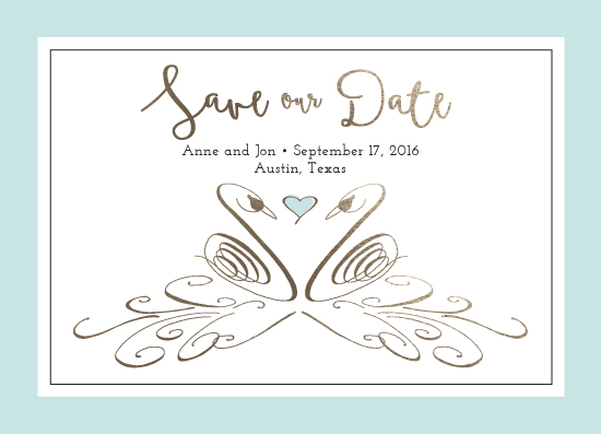 save the date cards - Flourished Swans by Jen H