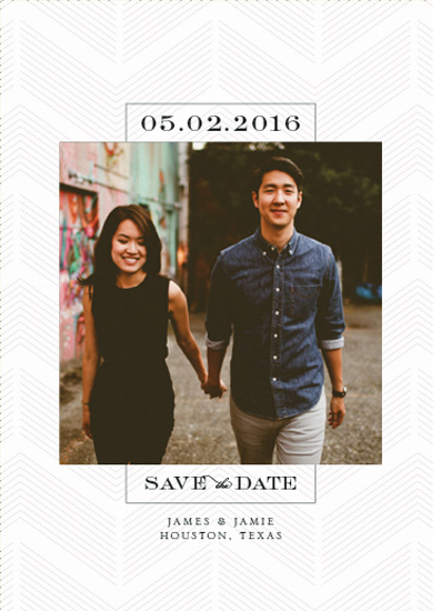 save the date cards - Trendy Romance by Megan Roth