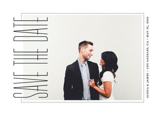 save the date cards - Deco Sideview by Megan Roth