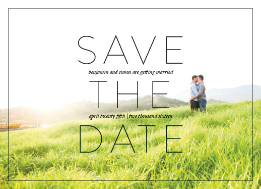 save the date cards - Italic Alternating by Megan Roth