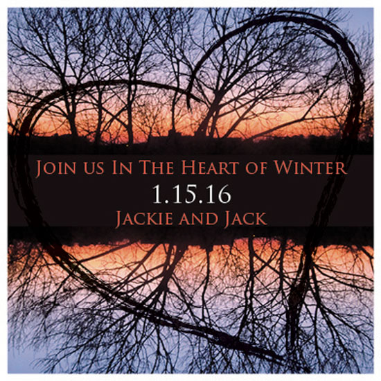 save the date cards - Winter Heart Branches2 by Renee Rosenfeld
