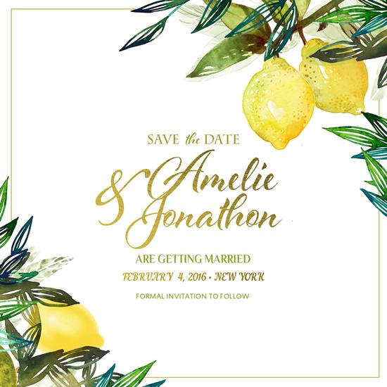 save the date cards - A fresh taste of wedding by Sasha Budilkina