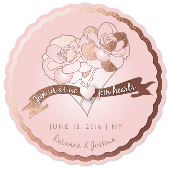 save the date cards - Rose Heart by Renee Rosenfeld