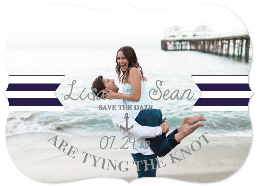save the date cards - Nautical Nuptials by Jillian Bull