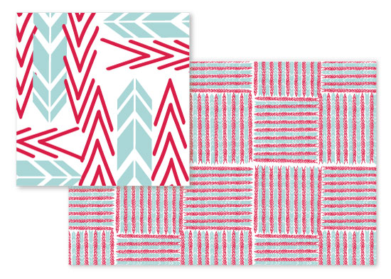 fabric - geometric squares by Neeta Sawhney