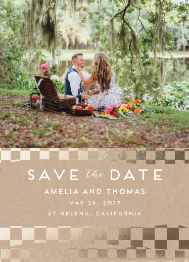 save the date cards - Pieces of Love by Leebert