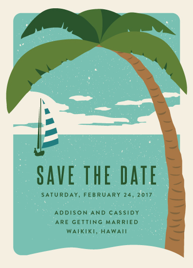 save the date cards - Island Escape by Kampai Designs