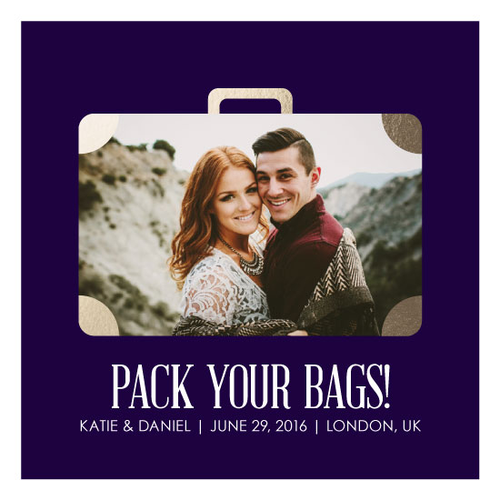 save the date cards - Pack Your Bags! by Kristen DeAngelis