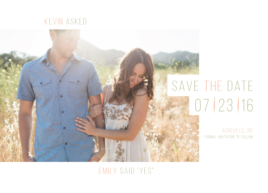 save the date cards - Ethereal by Evelyn Francis Cook