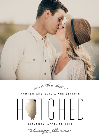 save the date cards - Hitched in Illinois by Erica Krystek