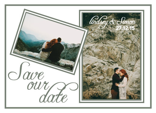 save the date cards - Landscape of love by Tammi