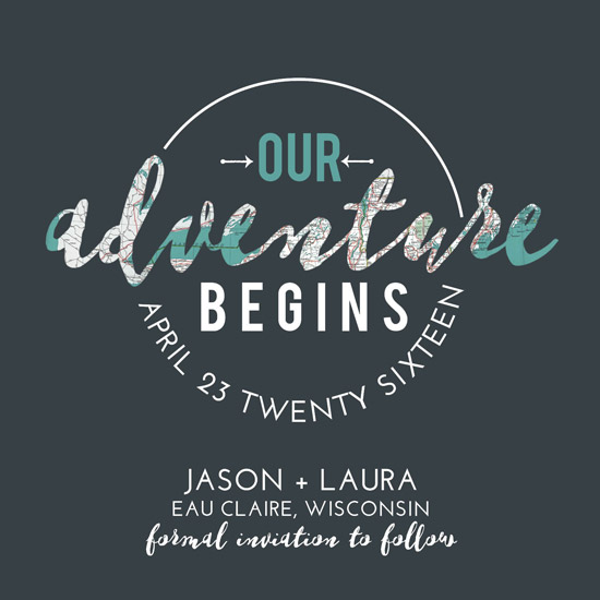 save the date cards - Let's Go on an Adventure by Jodi Stevens