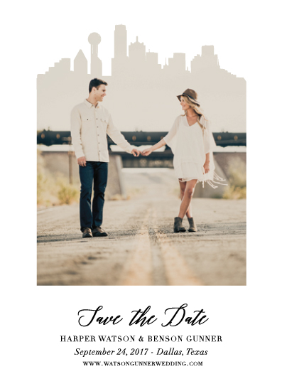 save the date cards - Married in the City by Kaydi Bishop