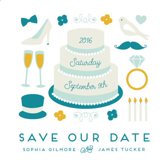 save the date cards - Cute Wedding by Katie Zimpel
