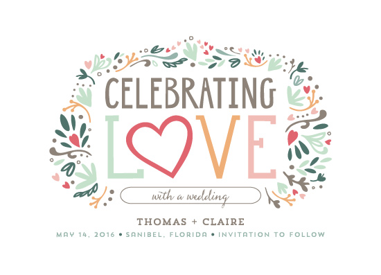 save the date cards - Celebrating Love by Denise Anne