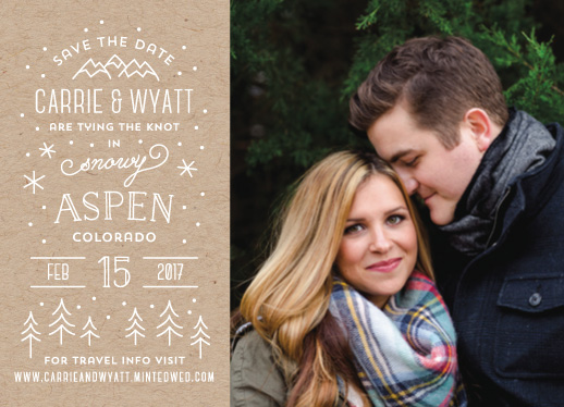 save the date cards - Somewhere Snowy by Laura Hankins