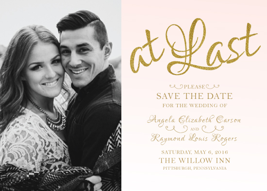 save the date cards - At Last Ombre Glam by Marie Couture Designs