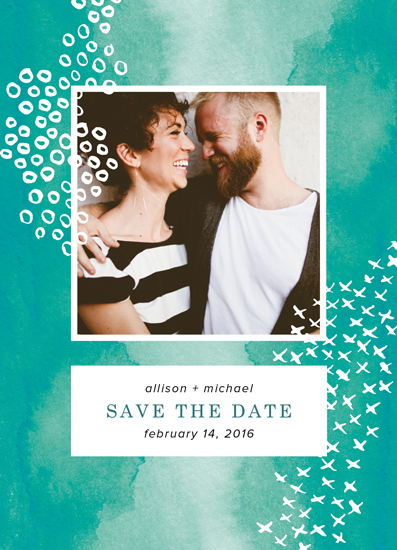 save the date cards - Painted Pattern by Juliet Meeks