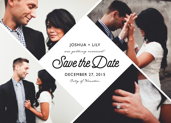 save the date cards - A Modern Love by Thuy Do