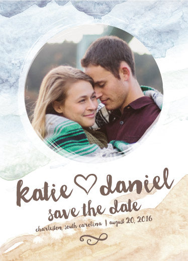 save the date cards - Rustic Beach by Amanda Ansel