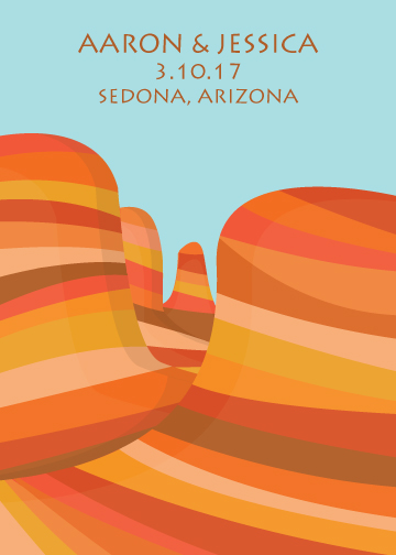 save the date cards - Desert Wedding by Kirsten Alexis