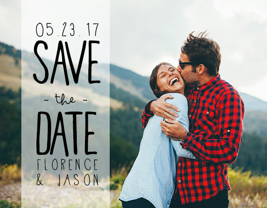 save the date cards - White Banner by Refound Nostalgia