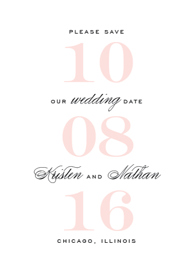 save the date cards - Elegantly Bold by Kimberly FitzSimons
