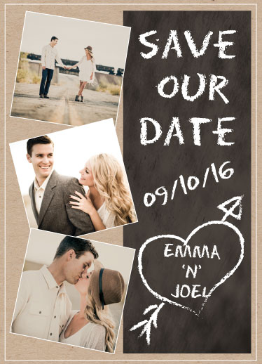 save the date cards - chalkboard of love by Tammi