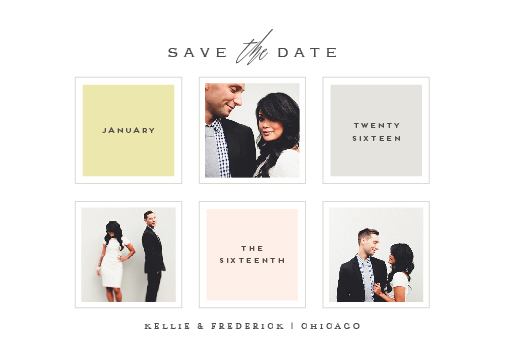 save the date cards - sfogliatelle by chocomocacino