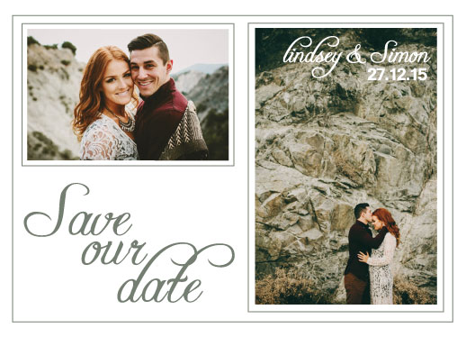 save the date cards - love in the mountains by Tammi