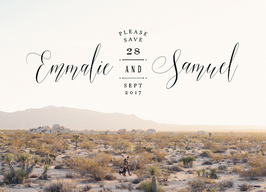 save the date cards - Scripted Logo by Phrosne Ras
