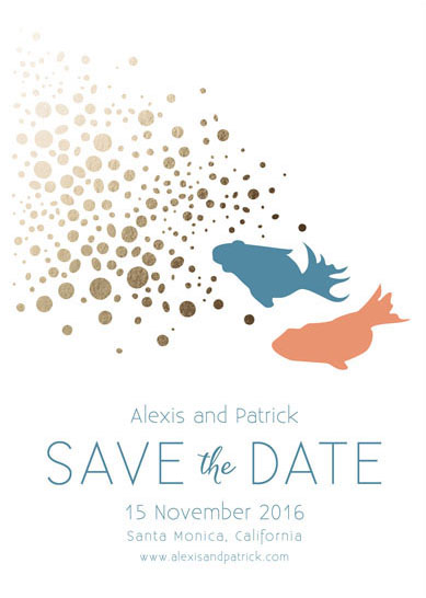 save the date cards - Love Chase by Khana Design