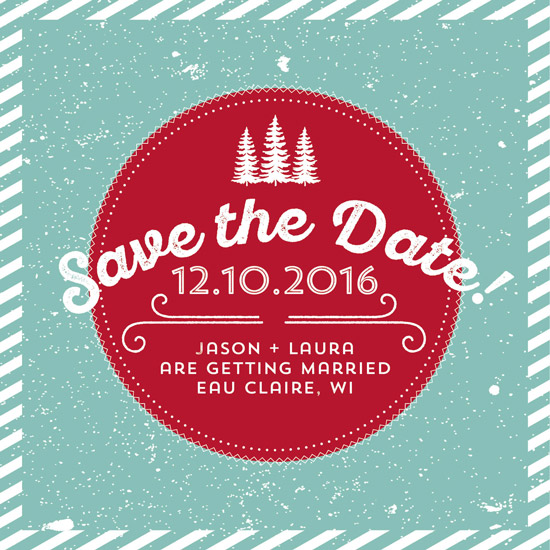 save the date cards - Deck the Halls by Jodi Stevens