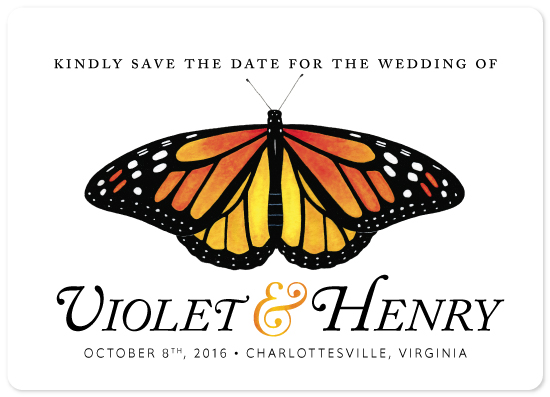 save the date cards - Monarch by Cherry Tree