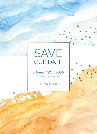 save the date cards - Subtle Seashore by Amanda Ansel