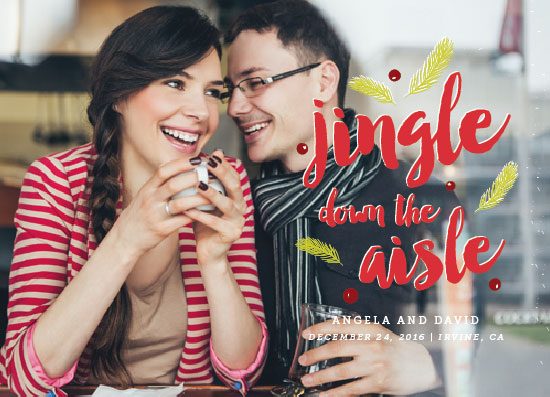 save the date cards - jingle down the aisle by Anna Elder