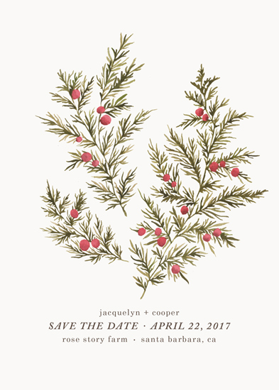 save the date cards - Botanical No. 4 by Wildfield Paper Co.