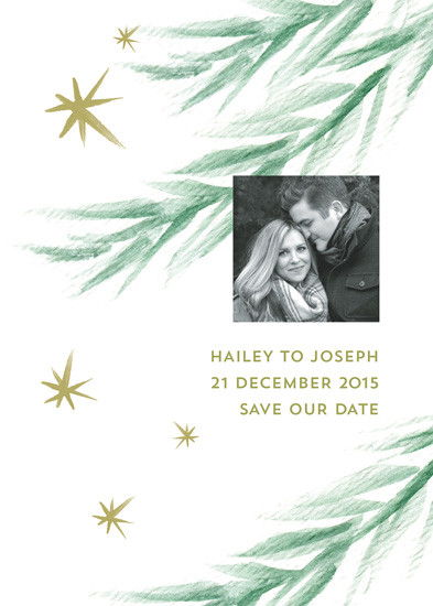 save the date cards - winter stars by Carol Fazio